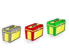Vector illustration a color box for the tool Royalty Free Stock Photo