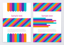 Vector illustration of color brochures Stock Images