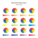 Vector illustration of color circle, infographics, palette, mono Stock Photo