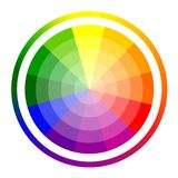 Vector illustration of color circle of twelve colors. vector illustration
