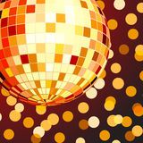 Vector illustration of color disco ball Royalty Free Stock Photos