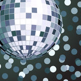 Vector illustration of color disco ball Stock Photography