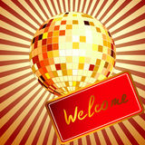 Vector illustration of color disco ball Royalty Free Stock Photo
