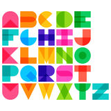Vector illustration of color font Stock Photo