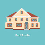 Vector illustration of color house and real estate Stock Image