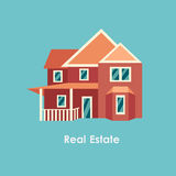 Vector illustration of color house and real estate Royalty Free Stock Photos