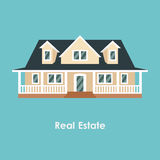 Vector illustration of color house and real estate Royalty Free Stock Images