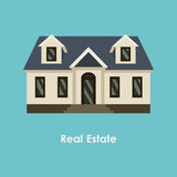 Vector illustration of color house and real estate Royalty Free Stock Photo
