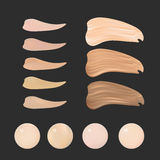 Vector Illustration of Color Shades Palette For Foundation Make Up. Royalty Free Stock Photo