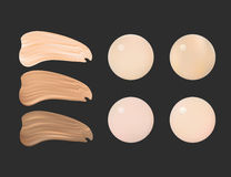 Vector Illustration of Color Shades Palette For Foundation Make Up. Royalty Free Stock Photography