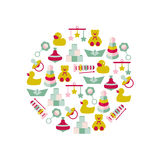 Vector illustration of color toys for kids Royalty Free Stock Photography