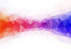 Vector illustration of color triangle geometric backround. Vector illustration of color triangle geometric pattern backround with lines and dots Royalty Free Stock Photo