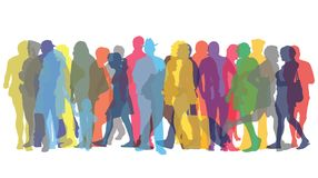 Colored figures of people. Vector illustration with colored figures of people Royalty Free Stock Image