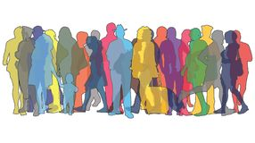 Colored figures of people. Vector illustration with colored figures of people Royalty Free Stock Images