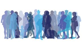 Colored figures of people. Vector illustration with colored figures of people Royalty Free Stock Photography