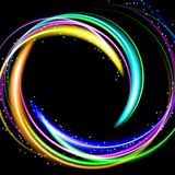 Vector illustration of colorful  abstract background with blurred magic neon light Stock Photos