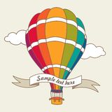 Vector illustration of colorful air balloon Stock Images