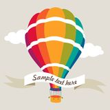 Vector illustration of colorful air balloon Stock Photos