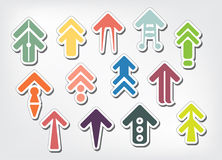 Vector illustration of colorful arrow Stock Image