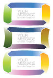 Vector illustration of Colorful Arrow Blocks Layout Stock Images