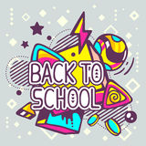 Vector illustration of colorful back to school quote Royalty Free Stock Photos