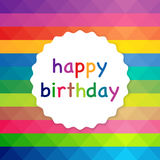 Vector illustration of a colorful background. Happy Birthday Royalty Free Stock Photos
