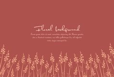 Background from silhouettes of flowers stock illustration