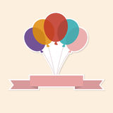 Vector illustration of  Colorful Balloons   Color Glossy Balloons Festive Royalty Free Stock Photography