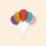 Vector illustration of  Colorful Balloons   Color Glossy Balloons Festive Stock Photo