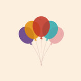 Vector illustration of  Colorful Balloons   Color Glossy Balloons Festive Royalty Free Stock Photos