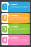 Vector Illustration, Colorful Banner Template for Creative Work Royalty Free Stock Images