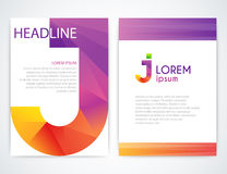 Vector illustration of a colorful brochure Royalty Free Stock Photography