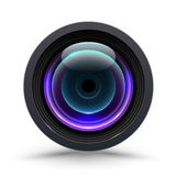 Vector illustration of colorful camera lens. On white background. Icon for camera lens Stock Images