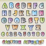 Cartoon Alphabet. Vector illustration of colorful cartoon alphabet  for design elements. Grouped and layered for easy editing Stock Photo