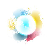 Vector illustration. colorful circle logo / background design element. Stock Photos