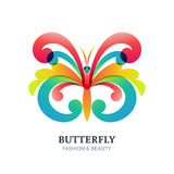 Vector illustration of colorful decorative butterfly. Royalty Free Stock Photo