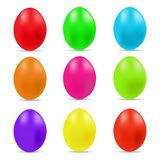Vector illustration of colorful Easter eggs collection on a white background. Vector illustration of Easter eggs collection on a white background stock illustration