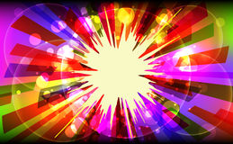 Vector illustration of colorful explode. Stock Photos