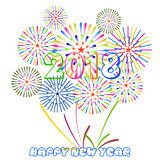 Vector illustration of Colorful fireworks. Happy new year 2018 theme. Vector illustration of Colorful fireworks. Happy new year 2018 Stock Images