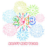 Vector illustration of Colorful fireworks. Happy new year 2018 theme. Vector illustration of Colorful fireworks. Happy new year 2018 Royalty Free Stock Image