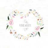 Vector illustration of colorful flat design style foral frame an Royalty Free Stock Images