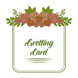 Vector illustration colorful floral frame design for invitation of greeting card vector illustration