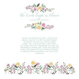 Vector illustration of  colorful flower set of roses and herbs i Stock Image