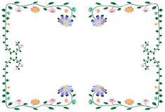 Vector illustration of colorful flowers Royalty Free Stock Photos