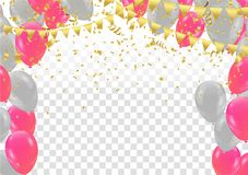 Vector Illustration of Colorful Flying Balloons. Eps. 10 Royalty Free Stock Image