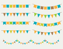 Vector Illustration of Colorful Garlands Stock Images