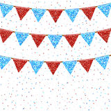 Vector Illustration of Colorful Garlands. Stock Photo