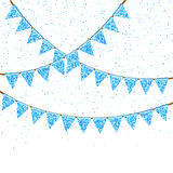 Vector Illustration of Colorful Garlands. Royalty Free Stock Image