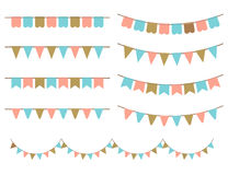 Vector Illustration of Colorful Garlands on white background. Royalty Free Stock Images