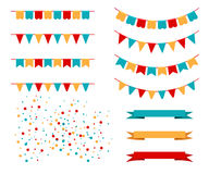 Vector Illustration of Colorful Garlands Royalty Free Stock Image